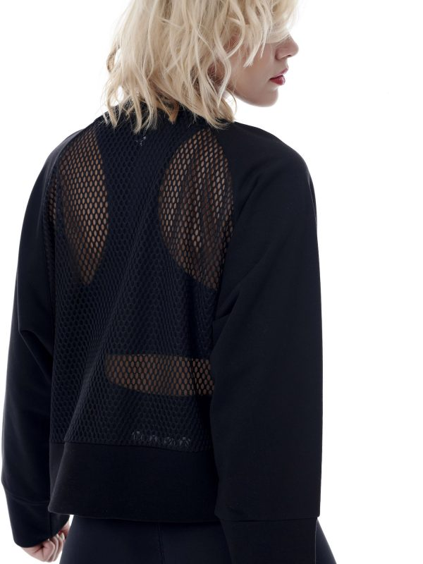 Baya Sport Mesh Panelled Black Sweater