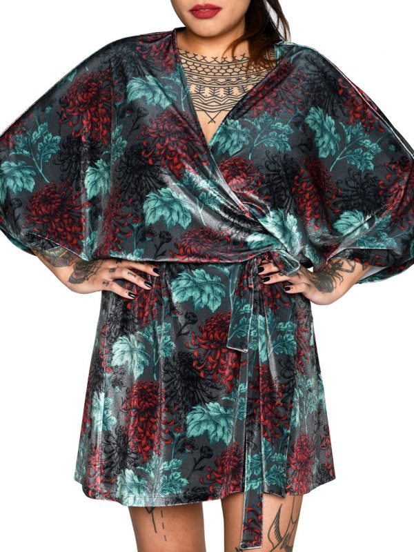 Heartbeatink Oriental Wrap Dress