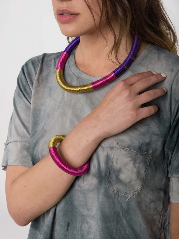 Ianthie Necklace by Anna Maria Lambert / Libertee Nancy t-shirt