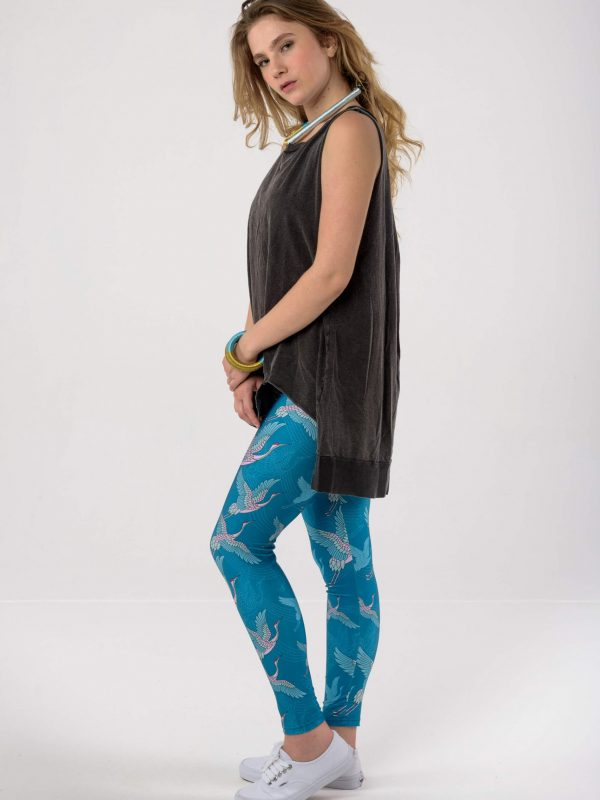 Heartbeatink Japanese Petrol Leggings / Libertee Gwen top