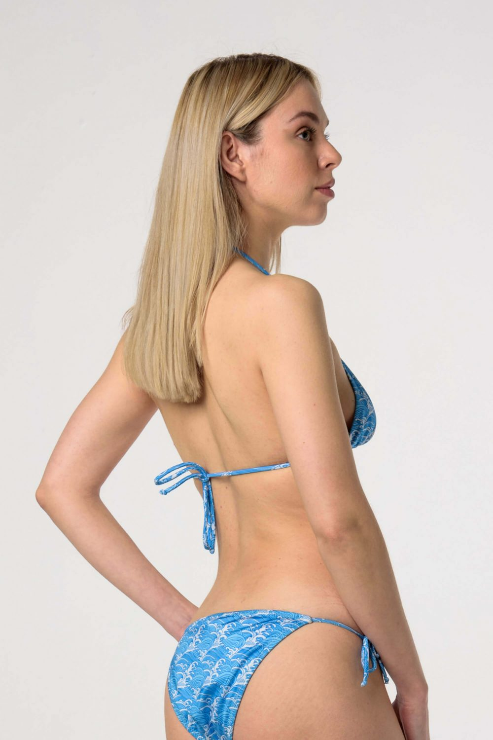 Heartbeatink Waves Tie Side Bikini