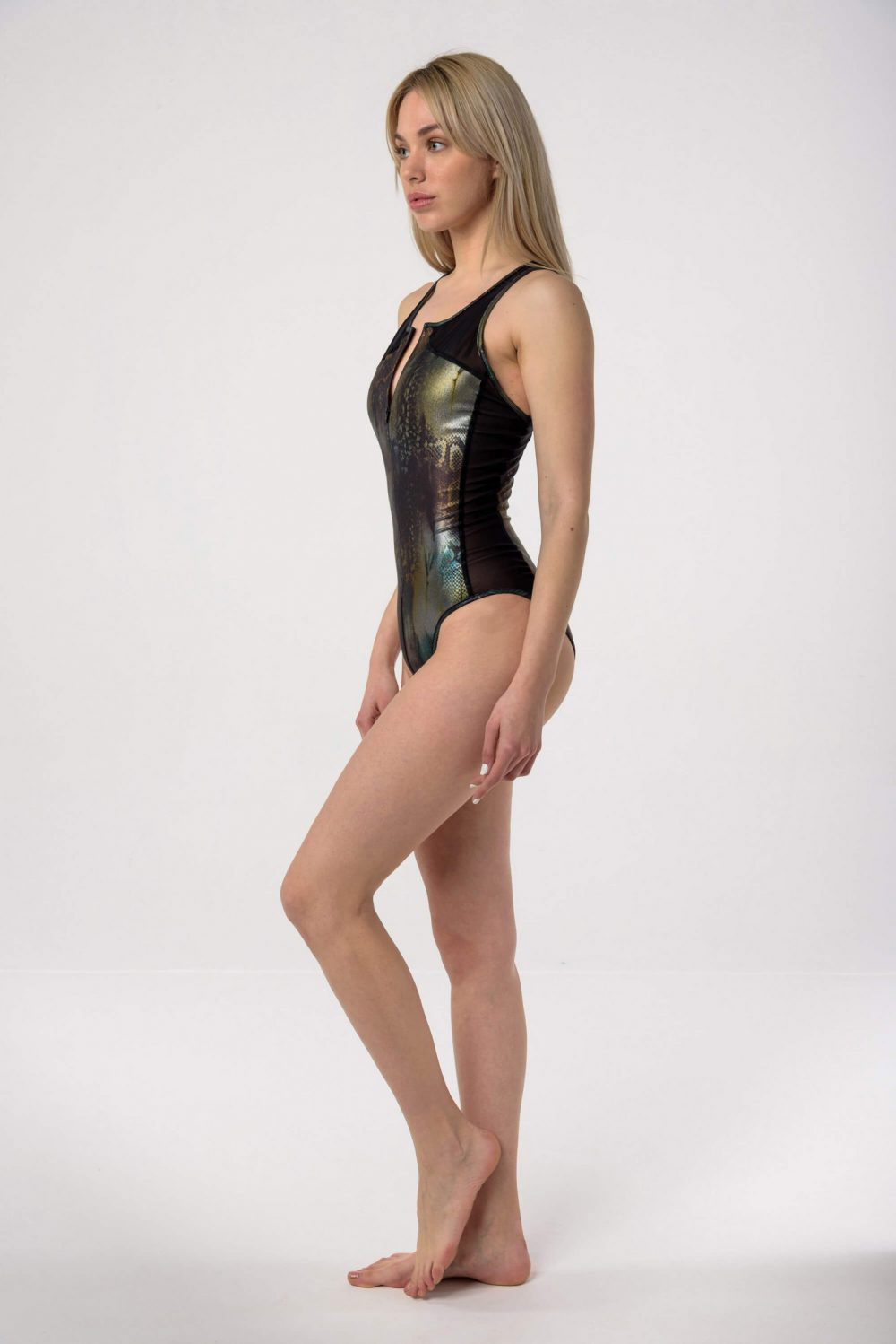 Baya Wild Shine Sporty Zipper Swimsuit