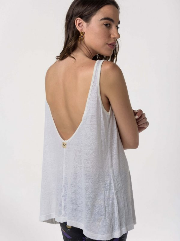 Libertee Rose Tank Linen Top