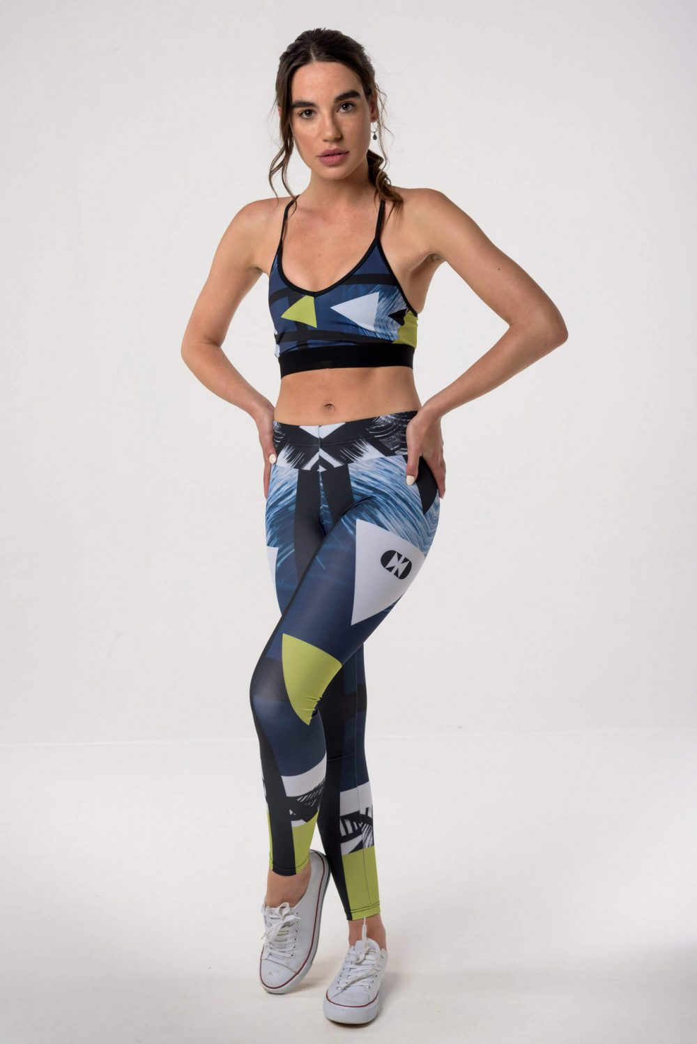 Cross Crew Sea Blue Sport Bra