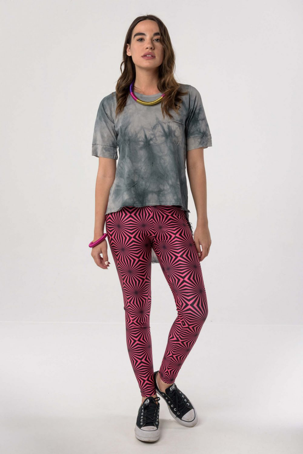Heartbeatink Neon Pink Leggings / Libertee Nancy t-shirt